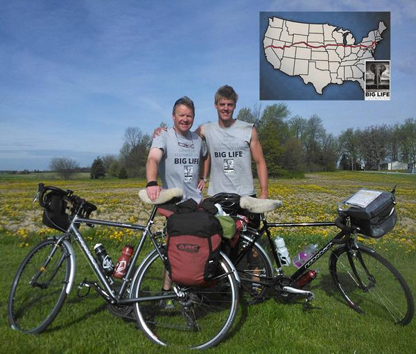 130405 1 2 Father and Son Cycling 3200 Miles Across United States to Raise Money for Big Life Foundation