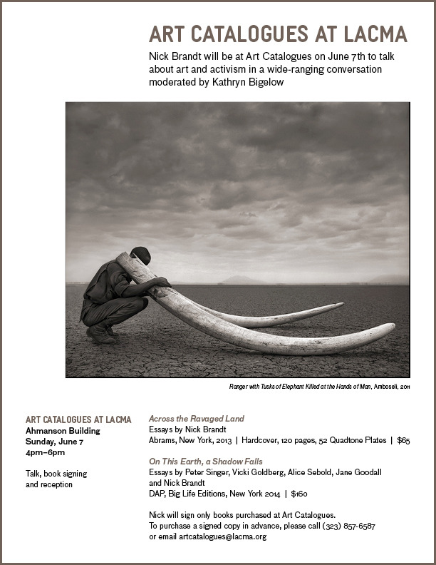 150521 1 1 Nick Brandt and Kathryn Bigelow Talk Conservation and Art Activism at Lacma