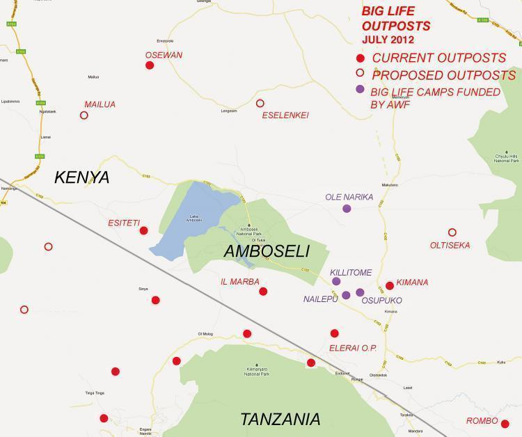 120713 1 1 Latest Map of All Big Life Camps in Kenya and Tanzania July 2012